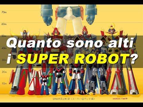Quanto sono alti i Super Robot?